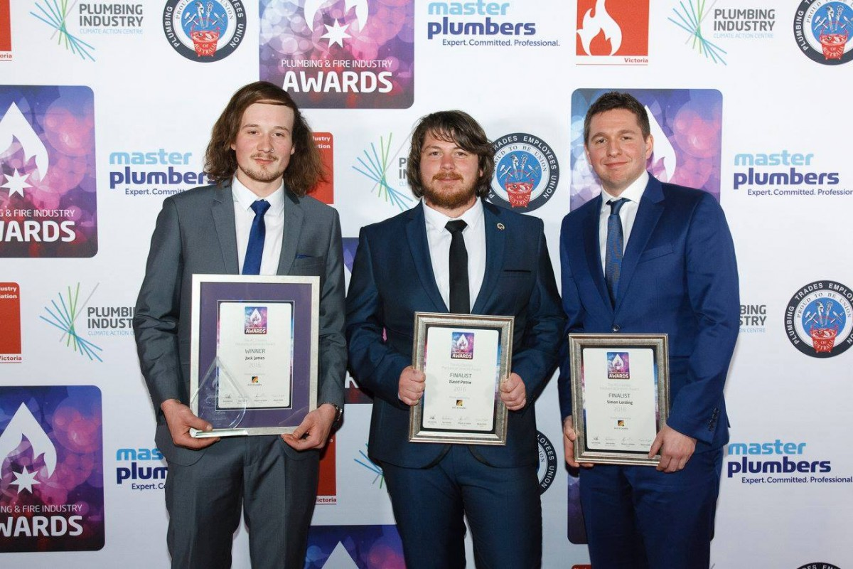 Fraser & Mountain's Apprentice Wins Prestigious Industry Award. (Mechanical Services Plumbing)